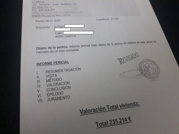tasacion piso divorcio valencia juan sastre perito tasador