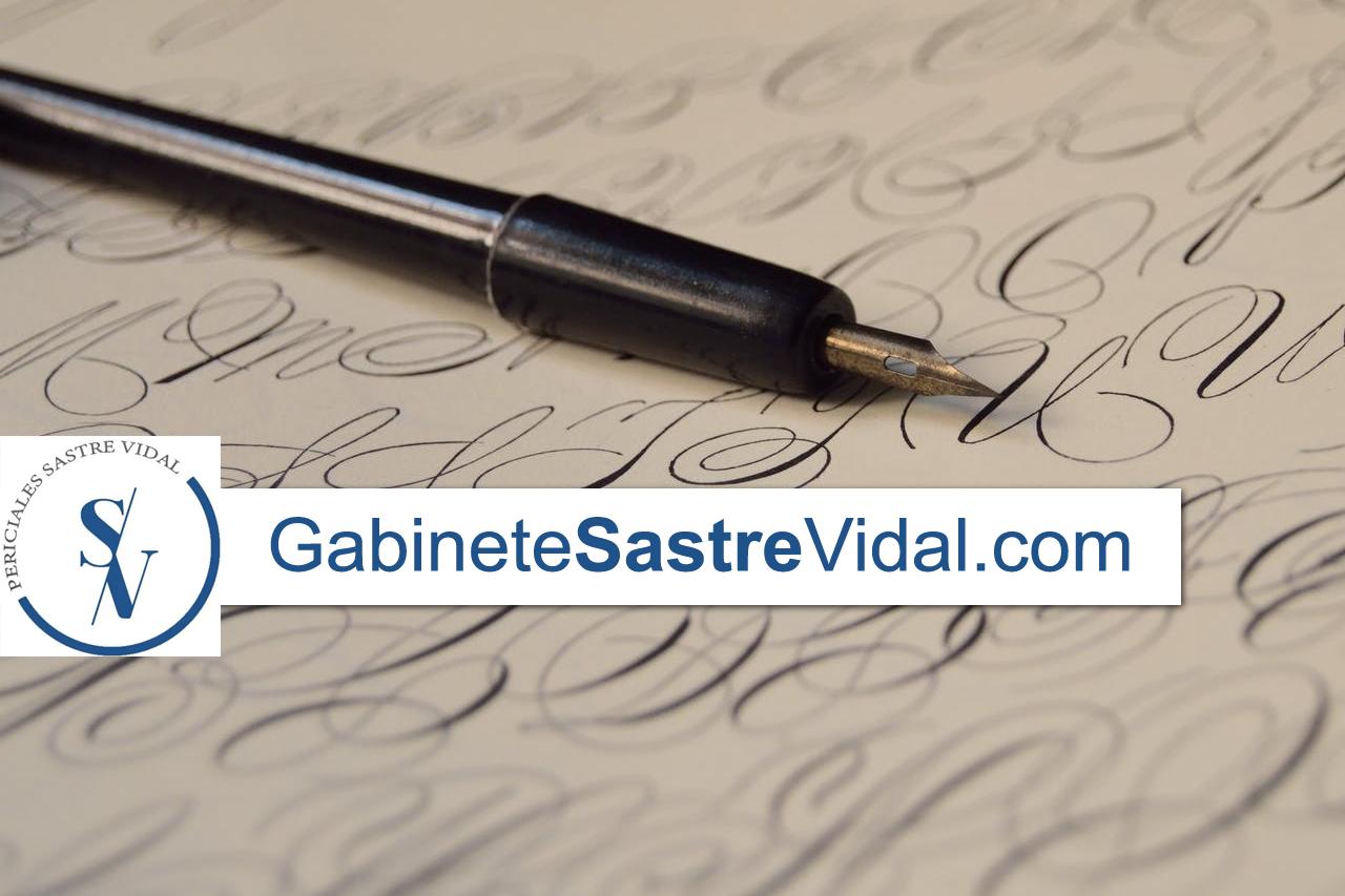 cómo hacer peritaje caligráfico